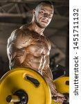 handsome strong athletic men...   Shutterstock . vector #1451711132