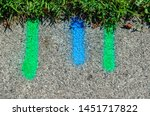 Blue And Green Utility Marking...