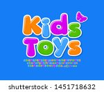 vector playful sign kids toys... | Shutterstock .eps vector #1451718632