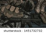 military equipman and weapons...   Shutterstock . vector #1451732732