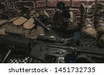 military equipman and weapons...   Shutterstock . vector #1451732735