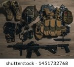 military equipman and weapons...   Shutterstock . vector #1451732768