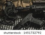 military equipman and weapons...   Shutterstock . vector #1451732792