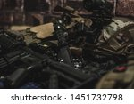 military equipman and weapons...   Shutterstock . vector #1451732798