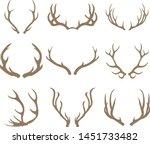 deer antlers set vector...