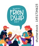 happy friendship day greeting... | Shutterstock .eps vector #1451734625