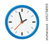 analog clock flat vector icon....   Shutterstock .eps vector #1451738555