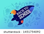 back to school banner.... | Shutterstock .eps vector #1451754092