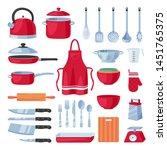 kitchen utensil design elements ... | Shutterstock .eps vector #1451765375