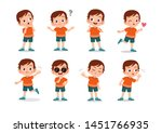 kid child expression vector... | Shutterstock .eps vector #1451766935