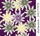 seamless floral pattern with... | Shutterstock .eps vector #1451777975