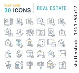 set of vector line icons of... | Shutterstock .eps vector #1451793512