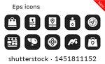 eps icon set. 10 filled eps...