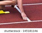start possition in stadium | Shutterstock . vector #145181146