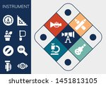 instrument icon set. 13 filled... | Shutterstock .eps vector #1451813105