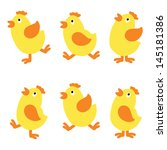 set isolated chicken   raster... | Shutterstock . vector #145181386