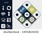 loop icon set. 13 filled loop... | Shutterstock .eps vector #1451814242