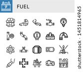 set of fuel icons such as... | Shutterstock .eps vector #1451814965