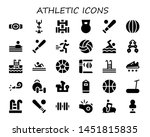 athletic icon set. 30 filled... | Shutterstock .eps vector #1451815835