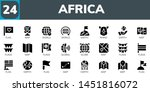 africa icon set. 24 filled...   Shutterstock .eps vector #1451816072