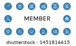 set of member icons such as... | Shutterstock .eps vector #1451816615
