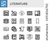 set of literature icons such as ... | Shutterstock .eps vector #1451816702