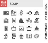 set of soup icons such as... | Shutterstock .eps vector #1451818022