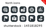 north icon set. 10 filled north ...   Shutterstock .eps vector #1451818295