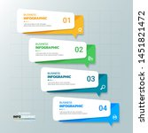 infographics template 4 steps... | Shutterstock .eps vector #1451821472