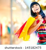 Fashion Shopping Girl Portrait...