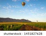 Hot Air Balloon Drifting Past A ...