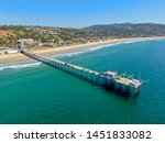 aerial view of the scripps pier ... | Shutterstock . vector #1451833082