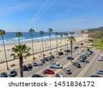 aerial view of parking lot with ... | Shutterstock . vector #1451836172