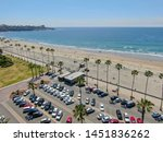 aerial view of parking lot with ... | Shutterstock . vector #1451836262