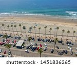 aerial view of parking lot with ... | Shutterstock . vector #1451836265
