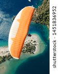 paragliding in the sky....   Shutterstock . vector #1451836952
