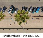 aerial top view of parking lot... | Shutterstock . vector #1451838422
