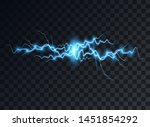 electric blue discharge  flash  ... | Shutterstock .eps vector #1451854292