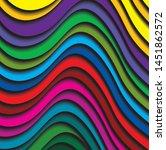 color spectrum colorful line 3d ...   Shutterstock .eps vector #1451862572