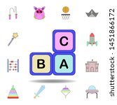 cartoon alphabet infants blocks ...