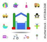 cartoon bouncy castle...