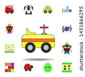 cartoon car toy colored icon....
