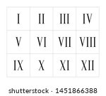 set of roman numerals isolated... | Shutterstock .eps vector #1451866388