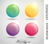 colorful round buttons.  vector ... | Shutterstock .eps vector #145190452