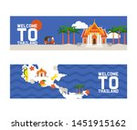 welcome to thailand set of... | Shutterstock .eps vector #1451915162