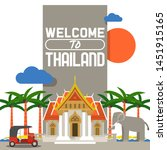 welcome to thailand banner.... | Shutterstock .eps vector #1451915165