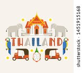 thailand banner. traditions ... | Shutterstock .eps vector #1451915168