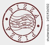 pizza slice stamp. fast food... | Shutterstock .eps vector #1451926502