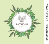 background with patchouli ... | Shutterstock .eps vector #1451934962
