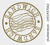 sandwich stamp. fast food... | Shutterstock .eps vector #1451937062